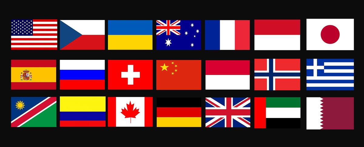 23 countries flag